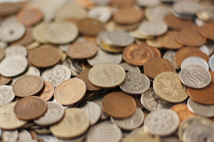 日本の硬貨の素材 [FYI00381269]