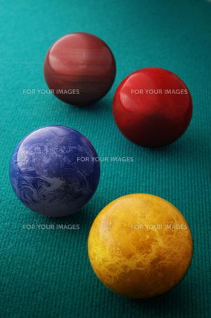 ビリヤードと惑星の写真素材 [FYI00381308]