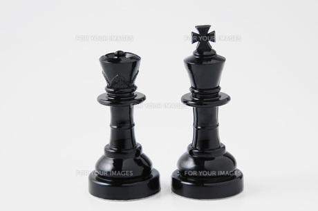 チェスの駒 キングとクイーンの写真素材 [FYI00381352]