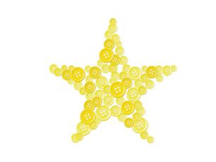 星型に並べた洋服のボタンの写真素材 [FYI00381441]