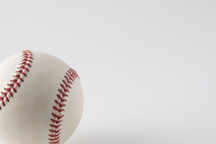 野球ボールのアップの写真素材 [FYI00381571]