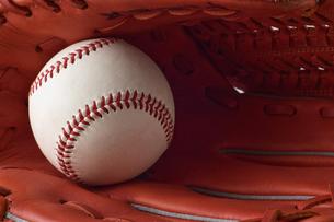 野球のボールとグローブの写真素材 [FYI00381579]