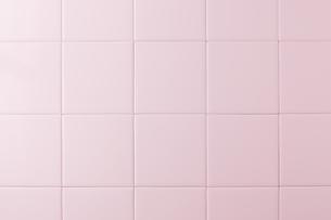 ピンクのタイルの写真素材 [FYI00381716]