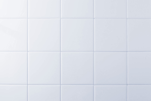白色のタイルの写真素材 [FYI00381719]