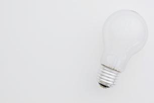 白背景に白熱電球の写真素材 [FYI00381754]