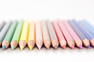 色鉛筆のアップの写真素材 [FYI00381813]