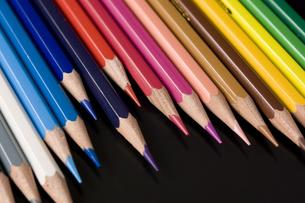 色鉛筆のアップの写真素材 [FYI00381826]