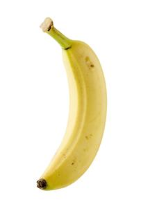 白背景にバナナのアップの写真素材 [FYI00381985]