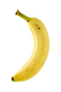 白背景にバナナのアップの写真素材 [FYI00381990]