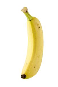 白背景にバナナのアップの写真素材 [FYI00381991]