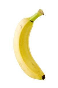 白背景にバナナのアップの写真素材 [FYI00382004]