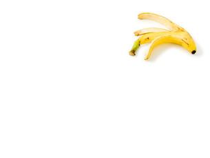 白背景にバナナの皮の写真素材 [FYI00382010]