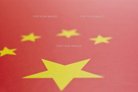 中国の国旗のアップの写真素材 [FYI00382069]