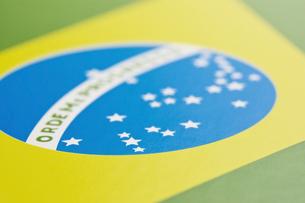 ブラジルの国旗のアップの写真素材 [FYI00382075]