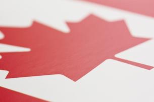 カナダの国旗のアップの写真素材 [FYI00382077]