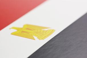 エジプトの国旗のアップの写真素材 [FYI00382083]