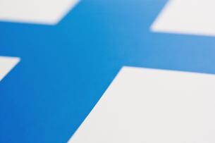 フィンランドの国旗のアップの写真素材 [FYI00382092]