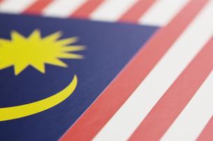 マレーシアの国旗のアップの写真素材 [FYI00382102]