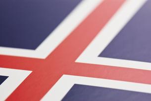 アイスランドの国旗のアップの写真素材 [FYI00382104]