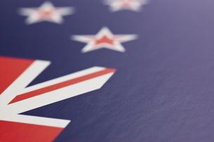 ニュージーランドの国旗のアップの写真素材 [FYI00382113]