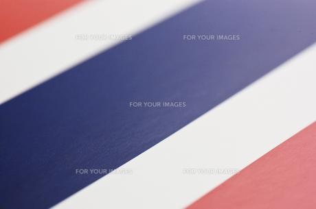 タイの国旗のアップの写真素材 [FYI00382118]