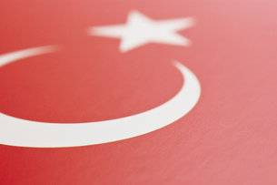 トルコの国旗のアップの写真素材 [FYI00382129]