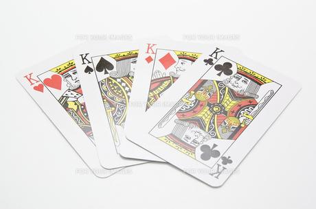 4枚のキングのカードの写真素材 [FYI00382165]