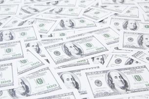 複数のドル紙幣の写真素材 [FYI00382169]