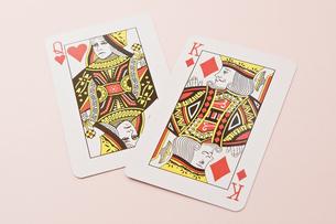 キングとクイーンのカードの写真素材 [FYI00382173]