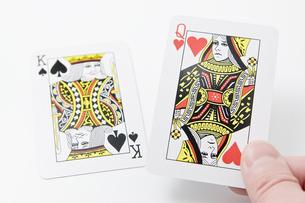 キングとクイーンのカードの写真素材 [FYI00382182]