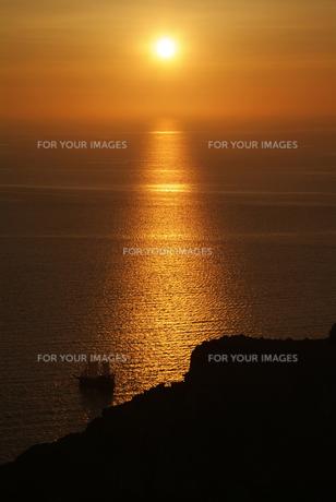 サントリーニ島、イアの夕日の写真素材 [FYI00382298]