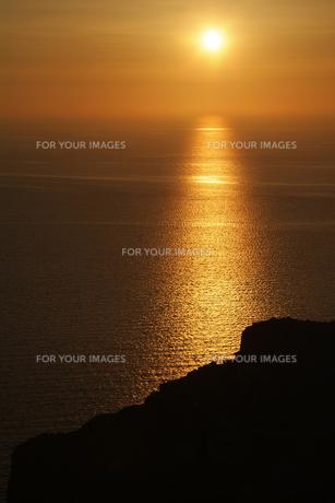 サントリーニ島、イアの夕日の素材 [FYI00382302]