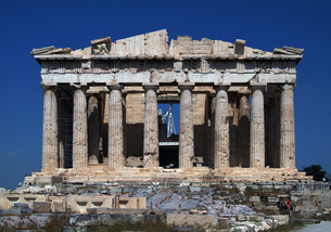 パルテノン神殿:正面全景の写真素材 [FYI00382380]