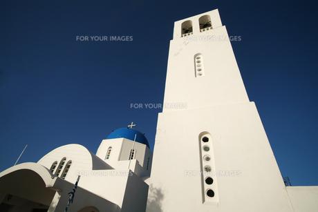 サントリーニ島の教会の鐘楼の素材 [FYI00382382]