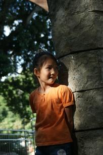 かくれんぼしている女の子の写真素材 [FYI00382466]