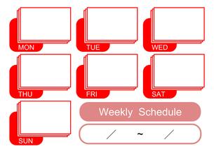 週間予定表(赤)の写真素材 [FYI00382530]