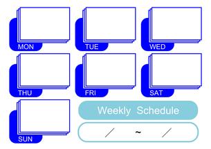 週間予定表(青)の写真素材 [FYI00382539]