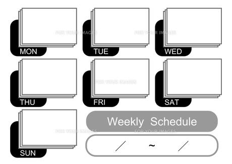 週間予定表(モノトーン)の写真素材 [FYI00382555]