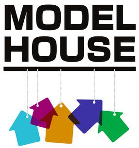 モデルハウスの表示の写真素材 [FYI00382644]