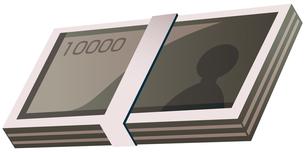 一万円札の札束の写真素材 [FYI00382646]