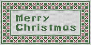 編み物風のMerrychristmas文字の素材 [FYI00382689]