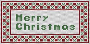 編み物風のMerrychristmas文字の素材 [FYI00382703]