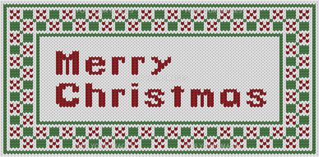 編み物風のMerrychristmas文字の素材 [FYI00382722]