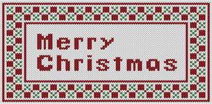 編み物風MerryChristmas文字の素材 [FYI00382730]