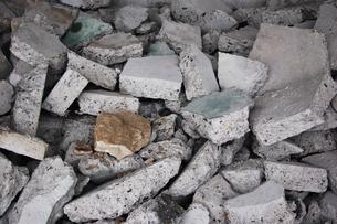 コンクリートの瓦礫の写真素材 [FYI00382787]