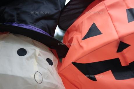 ハロウィンのかぼちゃとおばけの写真素材 [FYI00382900]