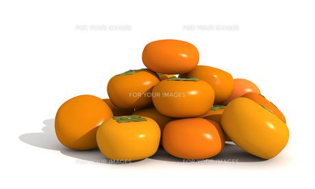 たくさんの柿の素材 [FYI00383360]