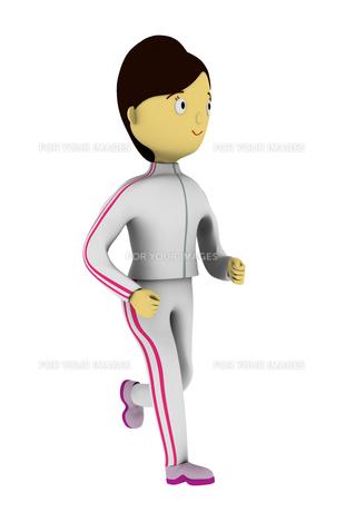 ジョギングする女性の写真素材 [FYI00383364]
