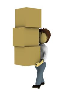 ダンボールを運ぶ男性の写真素材 [FYI00383366]