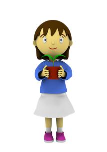 植木鉢を持つ女の子の写真素材 [FYI00383377]